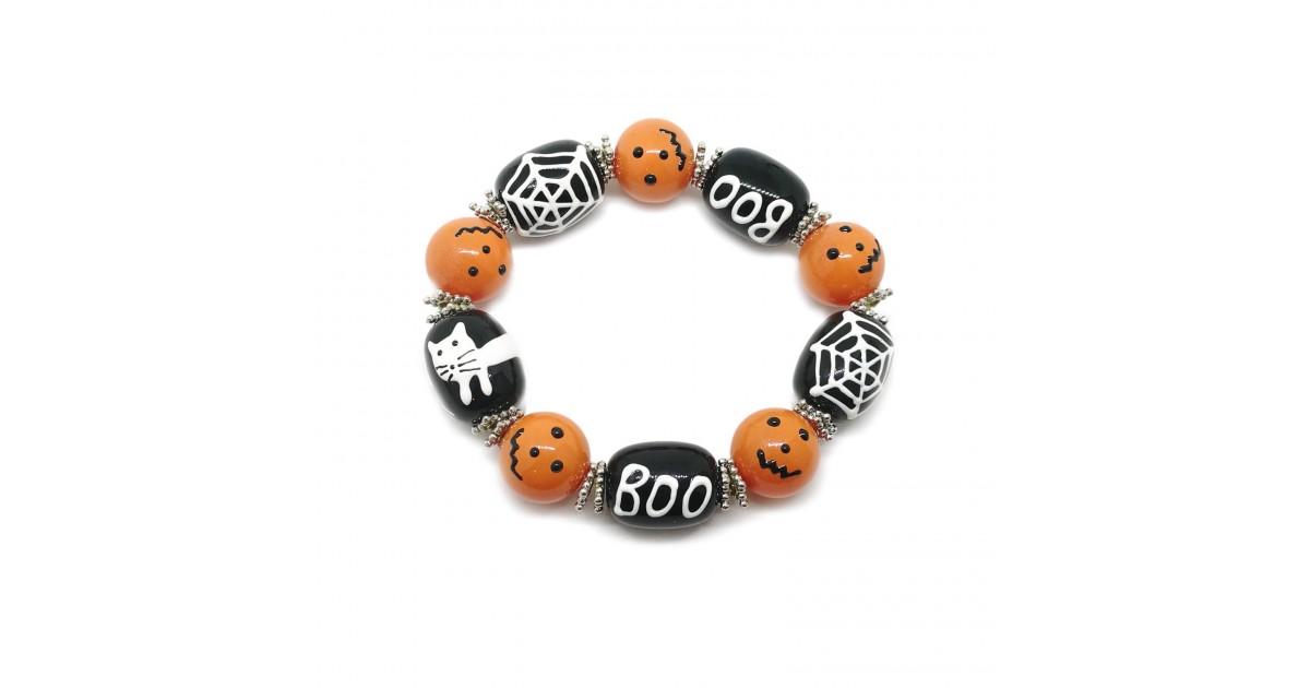 Elastic Halloween Large Bead Bracelets