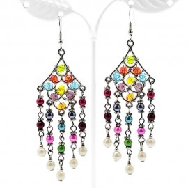 Handcrafted Bohemian Crystal Wrap Earring Connector Links