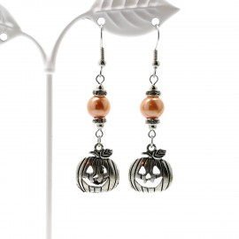 Handcrafted Jack Skellington Pumpkin Earrings