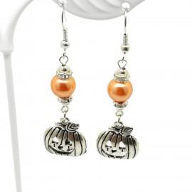 Handcrafted Jack Skellington Pumpkin Earrings