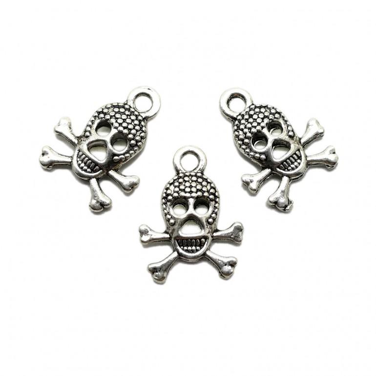 Skull Crossed Bones Charms