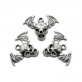Winged Skull Pendant Charms