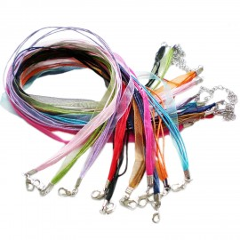 4 Plus 1 Voile Ribbon Necklace Cord 18-Inch with Extender - Assorted Colors
