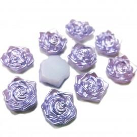 Flatback 3D Rose Cabochons - Violet