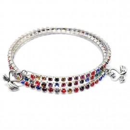 Rhinestones Coil Bracelet