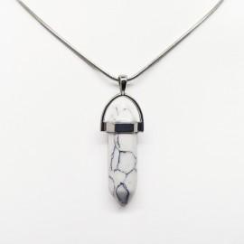 White Howlite Chakra Stone Pendant