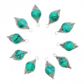 Handcrafted Wire Wrapped Lampwork Glass Bead Pendants