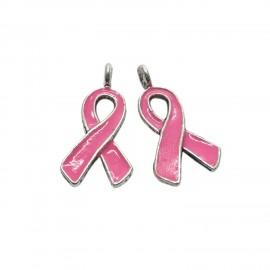 Oil-Drip Awareness Ribbon Charms - Pink