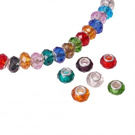 Faceted Glass Charm Beads