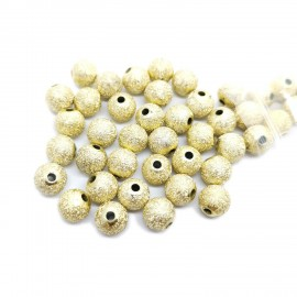 Stardust Acrylic Round Spacer Beads 10mm - Gold