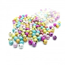 Stardust Acrylic Round Spacer Beads 6 mm - Assorted