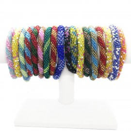 Mixed Handmade Crochet Glass Seed Bead Nepal Bracelet