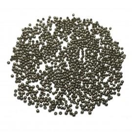 Tiny Metal Spacer Round Beads 2.4 mm - Black
