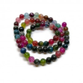 Agate Gemstone Round Beads 6 mm - Rainbow