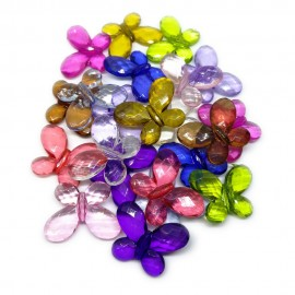 Faceted Butterfly Beads 25 mm