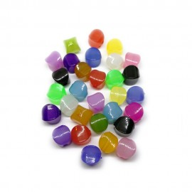 Quadrangle Translucent Candy Beads 10 mm