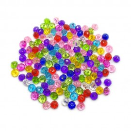 Acrylic Faceted Crystal Rondelle Beads