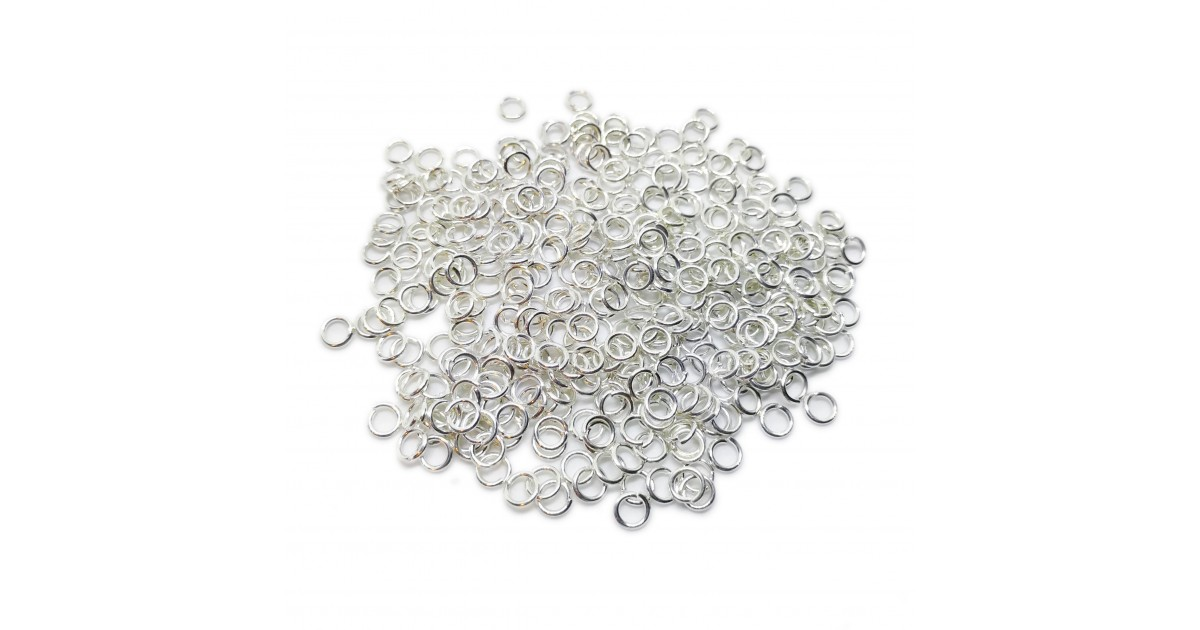 Open Jump Rings 4 mm - Silver
