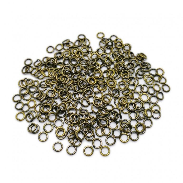 Open Jump Rings 4 mm - Antique Bronze