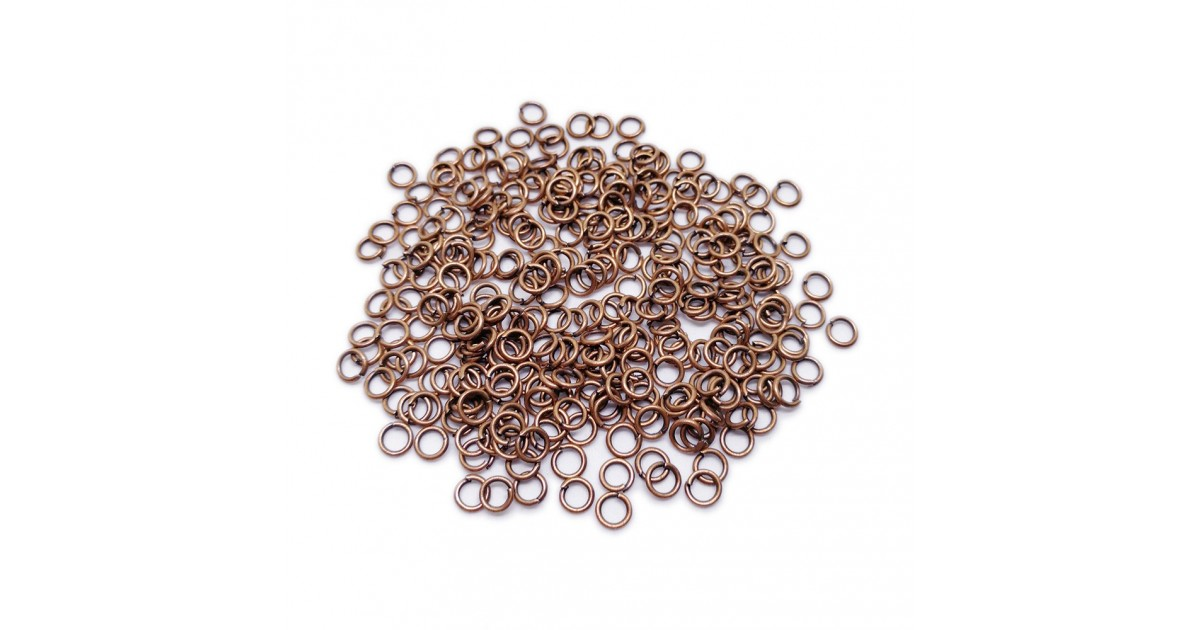 Open Jump Rings 4 mm - Antique Copper