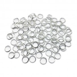 Open Jump Rings 8 mm - Silver