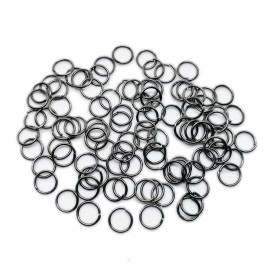 Open Jump Rings 8 mm - Black