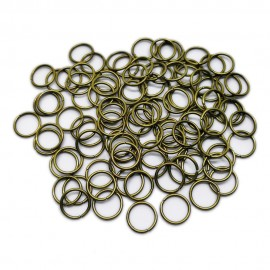 Open Jump Rings 10 mm - Antique Bronze