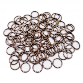 Open Jump Rings 10 mm - Antique Copper