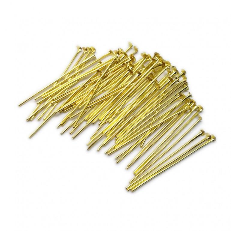 Head Pins 35 mm - Gold