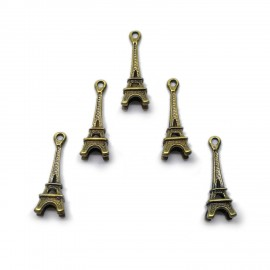 Eiffel Tower Pendant Charms - Antique Gold