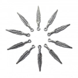 2-Side Feather Charms 30mm
