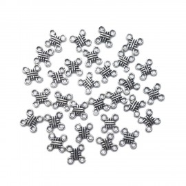 4-Side Lucky Knot Earring Connector Charms