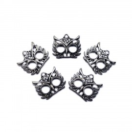 Owl Mask Charm Pendants 20 mm