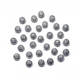 Lucky Coin Spacer Beads 6 mm