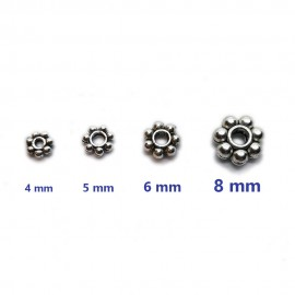 Daisy Spacer Metal Beads 4 mm, 5 mm, 6 mm, 8 mm