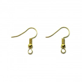 Ear Wire Fish Hooks 20 mm - Gold