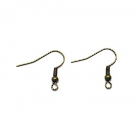 Ear Wire Fish Hooks 20 mm - Antique Bronze