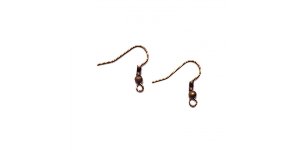 Ear Wire Fish Hooks 20 mm - Antique Copper