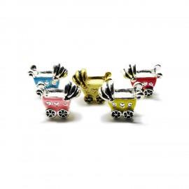 Baby Cart Large Hole Charm Beads