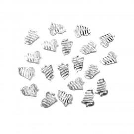 Filigree Heart Earring Connectors - Silver