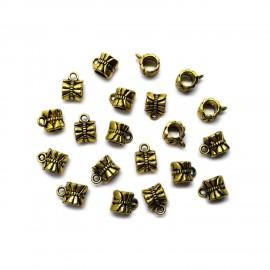 Pendent Link Bails  - Antique Gold