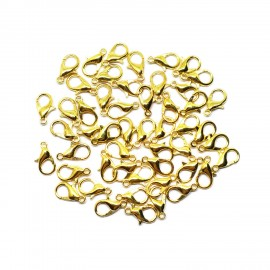Lobster Claw Clasps 12 mm - Gold