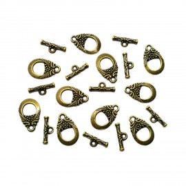 Oriental Flower Toggle Clasps