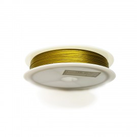 Tiger Tail Beading Wire 0.38 mm- Gold