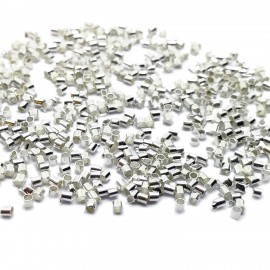Tube Crimp Beads 1.5mm - Silver