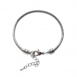 Silvertone Plated Snake Chain Bracelet