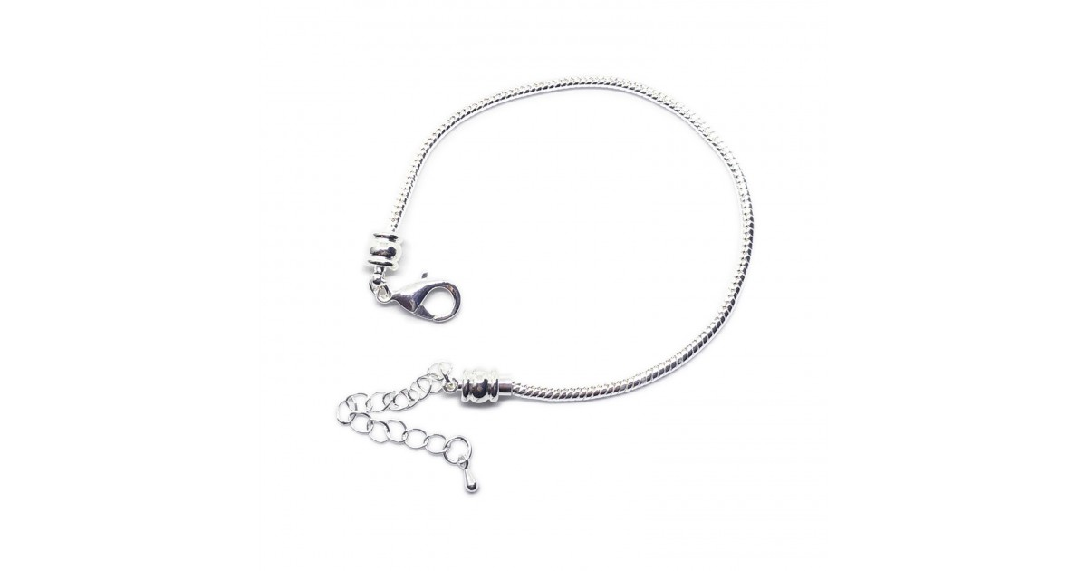 Silver Plated Snake Chain Bracelets with Screw End