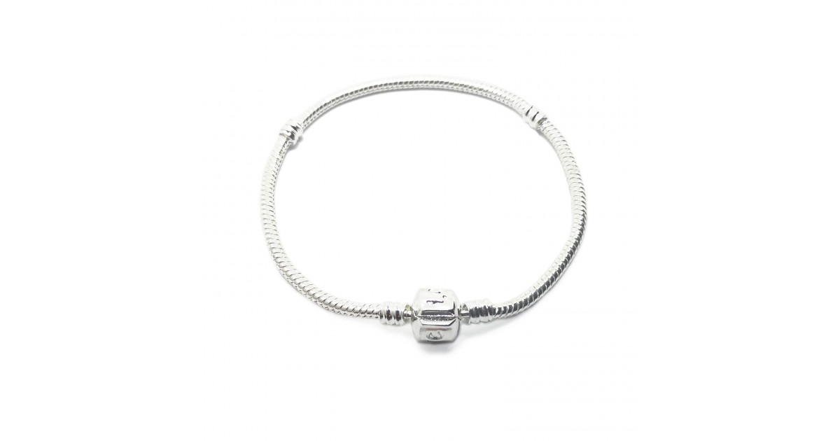 Silver Plated Starter Snake Chain Bracelet with Barrel Clasp