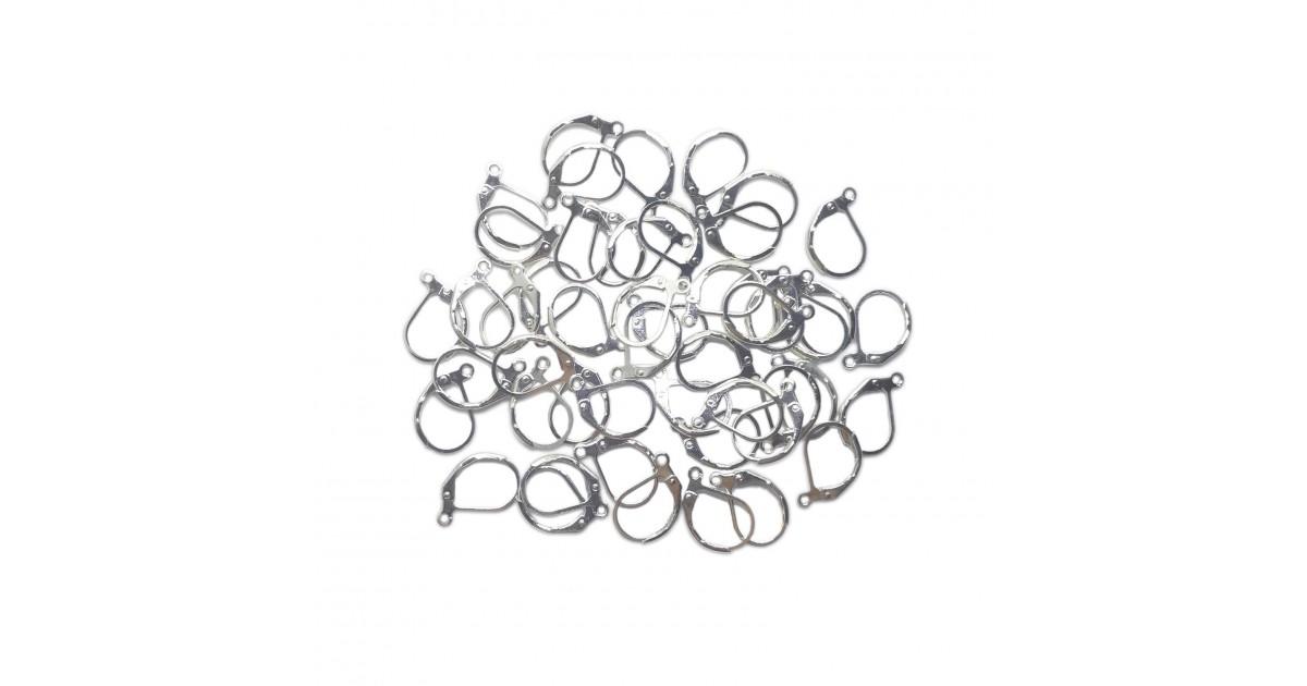Leverback Earrings Findings - Silver